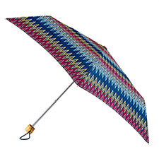 totes Supermini Basket Weave Print Umbrella