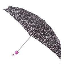totes Mini X-TRA STRONG Pink/Grey Animal  Print Umbrella (5 Section)
