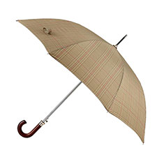 totes Premium Automatic Check Print Walker Umbrella