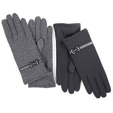 isotoner Thermal Glove With Bow And Strap Detail