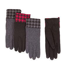 Isotoner Smartouch Dogtooth Cuff Thermal Gloves