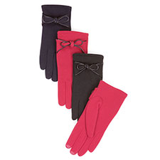 Isotoner Smartouch Bow Detail Thermal Gloves