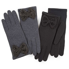 Isotoner Ladies Thermal Glove with Big Bow