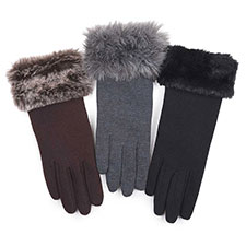 Isotoner Ladies Fur Cuff Thermal Glove
