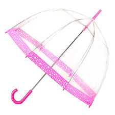 totes Ladies PVC Dome Stars Umbrella