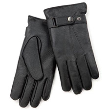 isotoner Textured Leather Glove with Strap