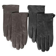 isotoner 3 Point Leather Glove with Cuff
