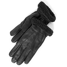 isotoner Berber Cuff Leather Glove