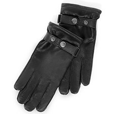 isotoner Textured Leather Glove with Outseam