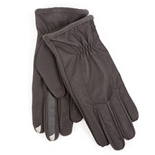 isotoner Mens Padded Honeycomb Smartouch Gloves