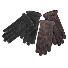 isotoner Mens 3 Point Suede Gloves