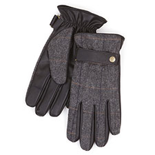 Isotoner Mens Smartouch Herringbone Gloves