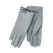 Isotoner Ladies Thermal Gloves with Frill  Light Grey