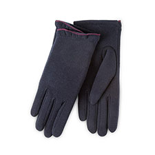 Isotoner Ladies Thermal Gloves with Frill  Navy