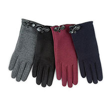 Isotoner Ladies Smartouch Thermal Gloves with Bow