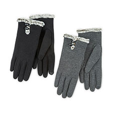 Isotoner Ladies Smartouch Thermal Gloves with Buttons