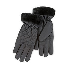 Isotoner Ladies Water Resistant Rouched Gloves