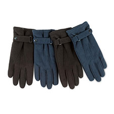 Isotoner Mens Smartouch Fleece Gloves