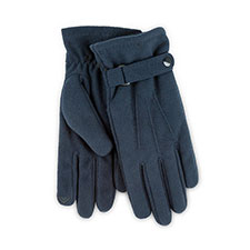 Isotoner Mens Smartouch Fleece Gloves Navy