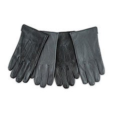 Isotoner Mens Smartouch Water Repellent 3 Point Gloves