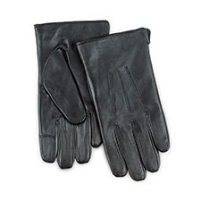 Isotoner Mens Smartouch Water Repellent 3 Point Gloves  Black