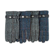 Isotoner Heritage Mens Smartouch Harris Tweed Gloves