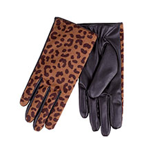 Isotoner Ladies Animal Glove with PU Palm  Animal