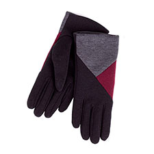 Ladies Isotoner Thermal Glove with Patchwork Detail   Black