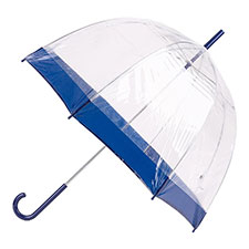 totes PVC Dome Umbrella with Plain Navy Border