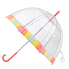 totes PVC Dome Rainbow Ombre Border Umbrella