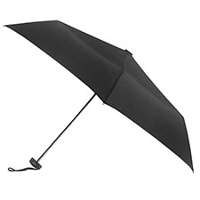 totes Plain Black Miniflat Umbrella