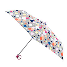 totes Miniflat Dotty Print Umbrella