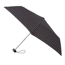 totes Miniflat B&W Wavy Stripe Print Umbrella (3 Section)