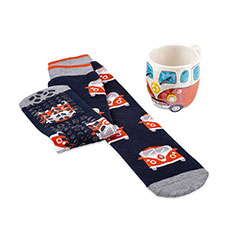 totes Mens Mug & Sock Gift Set Campervan