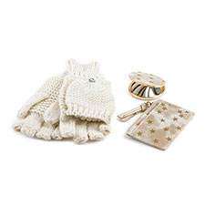 totes Ladies Card Holder, Mirror & Glove Set