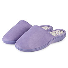isotoner Ladies Suedette Pillowstep Mule Slippers