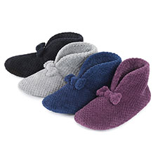 Isotoner Ladies Popcorn Bootie Slippers