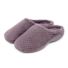 Isotoner Ladies Popcorn Terry Mule Slippers