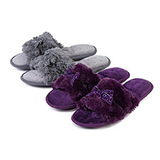 Isotoner Ladies Fluffy Sliders
