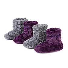 Isotoner Ladies Fur Booties
