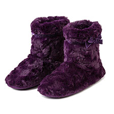 Isotoner Ladies Fur Bootie With Velvet Ribbon