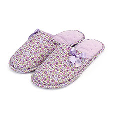 Isotoner Ladies Floral Mule Slipper