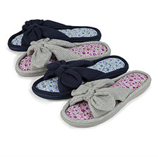 Isotoner Ladies Waffle Knot Open Toe Slippers