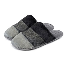 Isotoner Ladies Faux Fur Mules