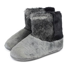Isotoner Ladies Faux Fur Booties