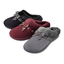 Isotoner Ladies Suedette Mule Slippers