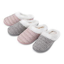 Isotoner Ladies Chenille Mule Slippers