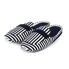 Isotoner Ladies Stripe Moc Sliders