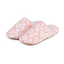 Isotoner Ladies Floral Mule Slippers