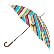 totes Auto Walker Wood Handle Diagonal Stripe Print Umbrella